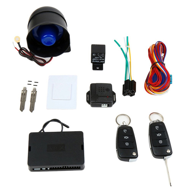 Cheap Car styling 12V Universal Car Alarm System Kit Mute Auto Burglar Alarm Automatic Anti-theft Alarm Devices for Central Door Lock
