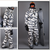 Premium Edition Southplay Winter 10,000mm Waterproof Ski Snowboard (Jacket With Pants) Sets White Military Suit