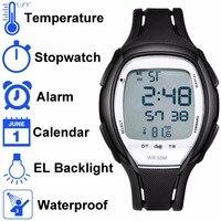 DeRieter Multifunktionale Elektronische Herrenuhr Wasserdicht Mit Zurück Licht-Thermometer Temperatursensor Digitaluhr