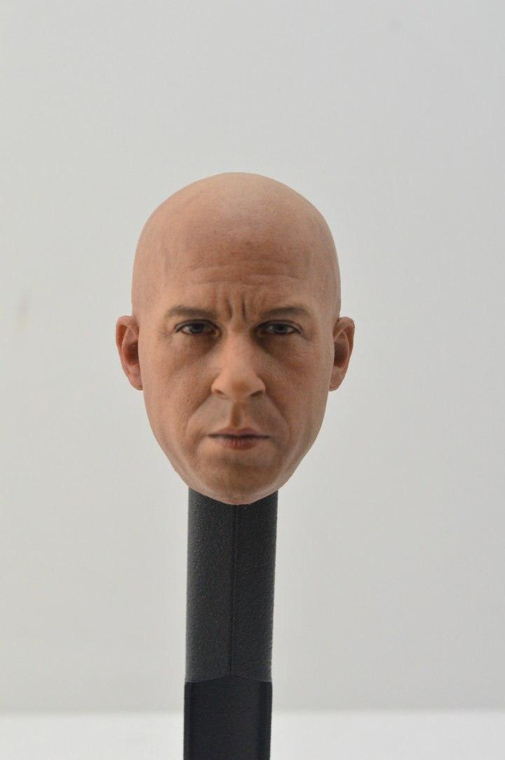 Custom 1//6 Scale Finn Head Sculpt For Star War Costume Hot Toys Figure Body