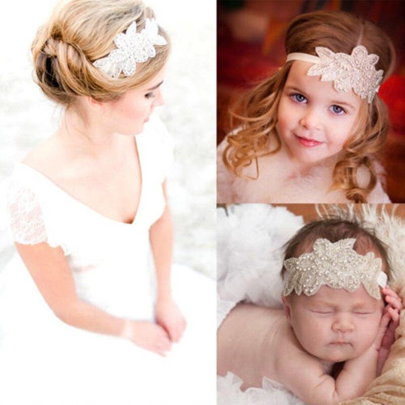 Detail Feedback Questions about Baby Girls Toddler Crystal Flower  Christening Bridal Elastic Headband Hair Band Women Headwear Hair  Accessories on ... a2f8fb89eb43