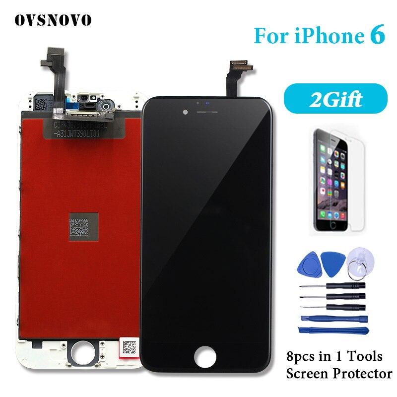 4.7 pouce AAA LCD Pour iPhone 6g A1549 A1586 A1589 LCD Affichage Plein Écran Tactile Digitizer Assemblée Pour iPhone 6 écran avec 2 cadeau