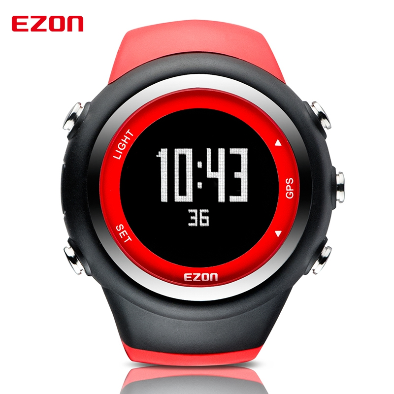 EZON Outdoor Sports Watch Digital GPS Timing Running Watch Calorie Counter Distance Speed 50M Waterproof Wrist Watches T031 ezon outdoor sports for smart gps watches running male multifunctional 5atm waterproof electronic watch g1 black