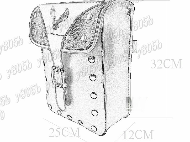 Motorcycle Saddle Bags Side Bag For Honda Shadow Spirit Sabre Aero