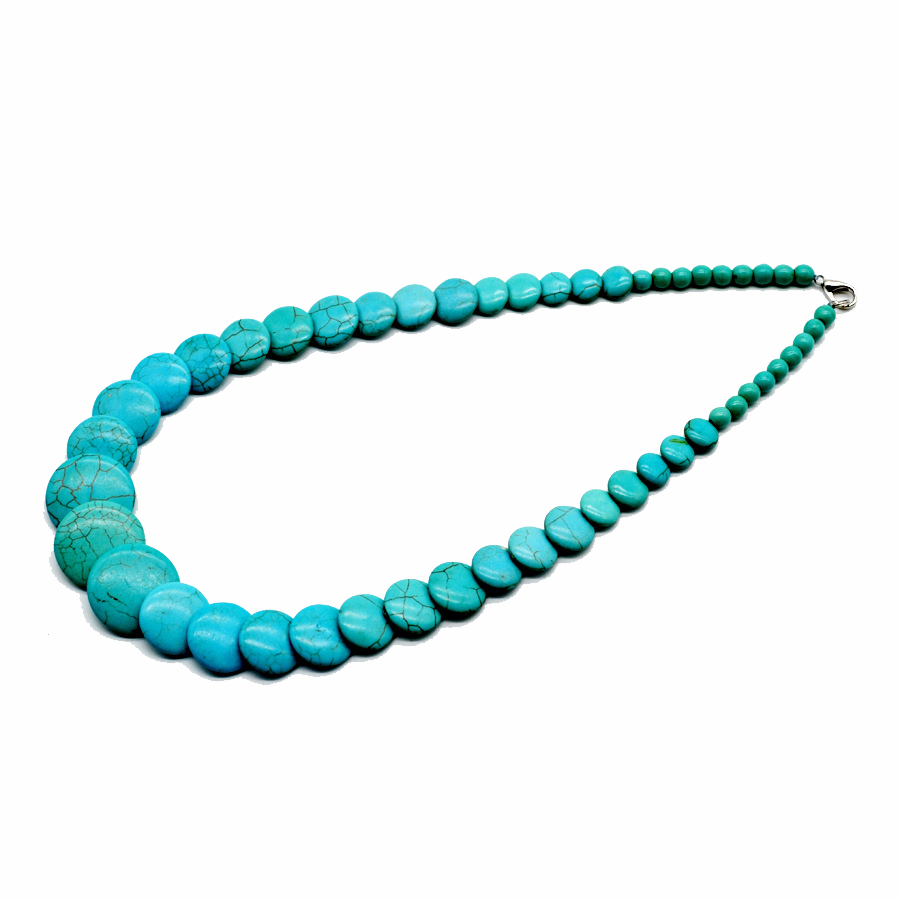 GBBEIYANG Hot sale Bohemian sweet fashion woman multi color stone necklace for girl popular jewelrybirthday gift in Pendant Necklaces from Jewelry Accessories
