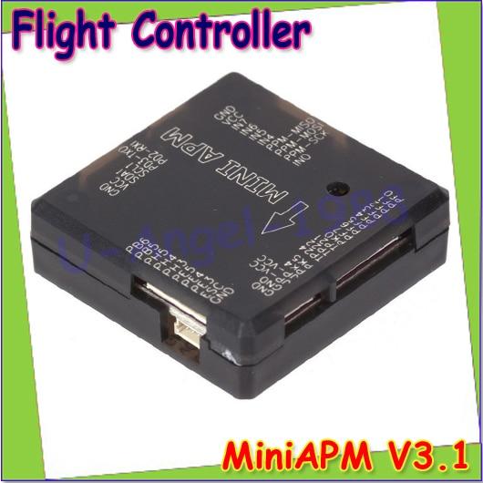 wholesale 1pc MiniAPM V3.1 Mini ArduPilot Mega 2.6 External Compass APM Flight Controller for Multicopter FPV Drop free shipping