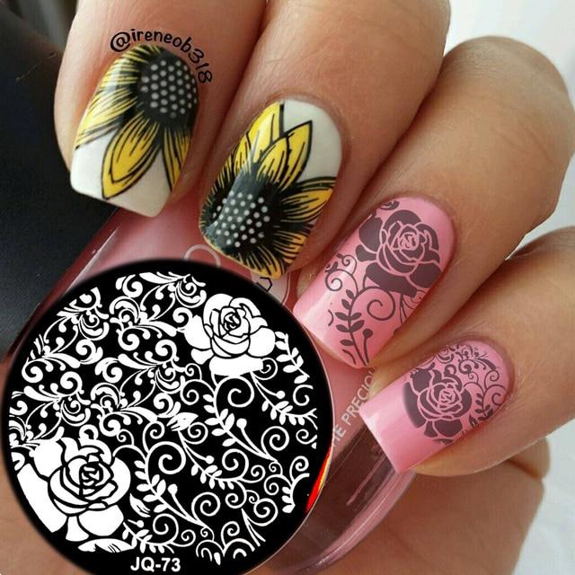 Nieuwe Jq Ontwerpen Nail Art Afbeeldingsstempel Platen Manicure