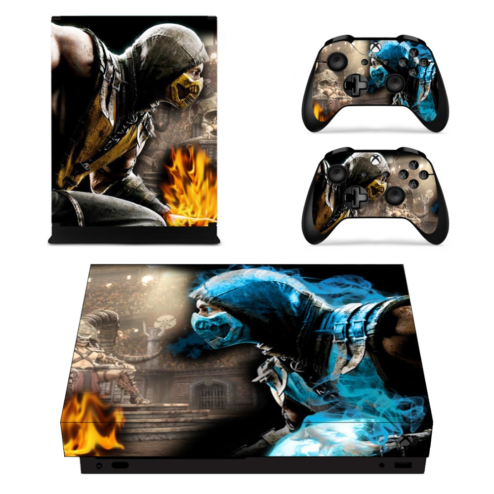 Game Stickers Mortal Kombat 10 For Xbox One X Console And Controller Gamepad Vinyl Decals Skins Cover Surface Sticker