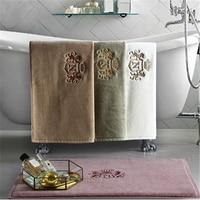 Five star hotel cotton bathroom embroidery floor mat home kitchen bathroom jacquard door mat