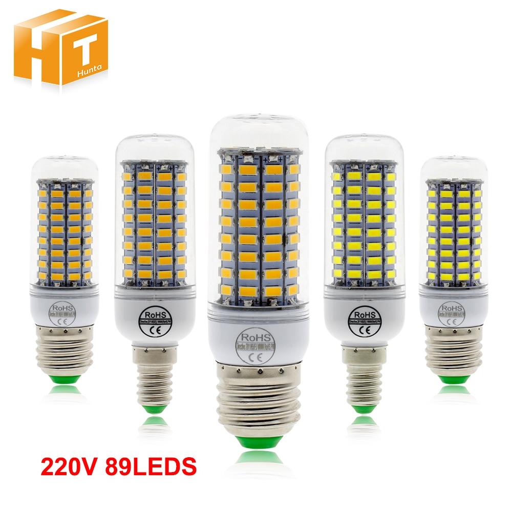 E27 E14 LED Bulb 220V SMD5730 89LEDs White / Warm White LED Corn Bulb Lamp No Flicker LED Light Bulb e27 220v 12w 1260lm 70led 2825sdm warm white led corn light bulb