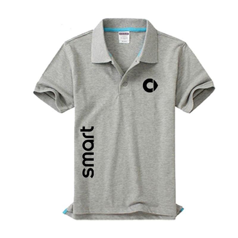 New Smart logo Men's   Polo   Shirt High Quality Men Cotton Short Sleeve shirt Brands jerseys