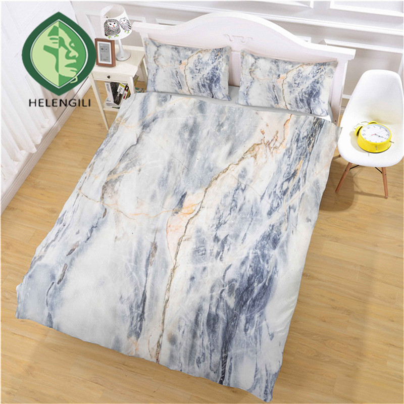 HELENGILI 3D Bedding Set Marble Print Duvet Cover Set Bedclothes with Pillowcase Bed Set Home Textiles #DLS-13HELENGILI 3D Bedding Set Marble Print Duvet Cover Set Bedclothes with Pillowcase Bed Set Home Textiles #DLS-13