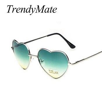 Love Shape Heart Sunglasses Women Brand Design Retro Alloy Frame Sun Glasses Vintage Mirror Sunglass Oculos De Sol Feminino M564 4