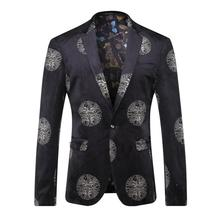 Fashion Printing Suit Blazer Men Brand Single-breasted Mens Blazers New Arrivals 2016 Men Suit Jacket Casual Slim Fit Coat Men