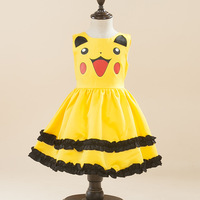 Carnival Birthday Halloween Costume Dress 2 3 4 5 6 7 8 9 Years Children Yellow