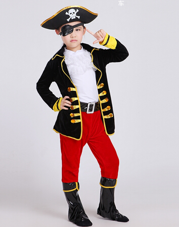 2016 best selling party supplies pirate capain jack cosplay boy clothing halloween costume for kids children christmas costume in boys costumes from novelty
