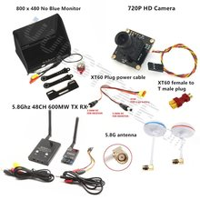 3 km Sistema Combo FPV 5.8 Ghz 600 mw Transmisor Receptor No azul Monitor 1000TVL Cámara QAV250 DJI Phantom Quadcopter