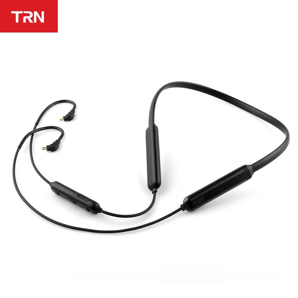TRN BT3S bezprzewodowy Bluetooth 4.2 APT-X kabel IPX7 wodoodporne słuchawki wsparcie CSR8645 Chip MMCX \ 2 piny/IE80 dla TRN V80 V30 KZ