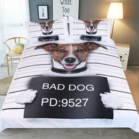 3D Pet Dog Printed Soft Breathable Comft Quilt Coverlet Duvet Cover Fitted Cover Pillowcase Home Decoration TJ 14