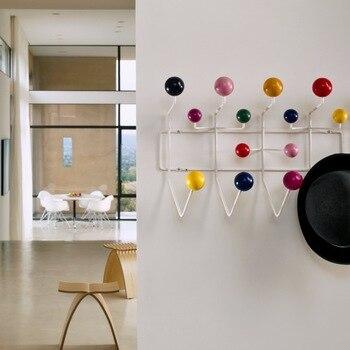 Muebles Rack puerta Rack bola múltiple propósito ganchos para adornos de pared Multicolor Hange todo para chico regalo bolsa de Metal Decoración