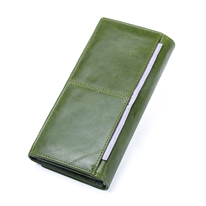 Image 5 - Contacts Genuine Leather Women Wallets Female Long Clutch Photo Holder Wallet Large Capacity Purses With Money Phone Bags