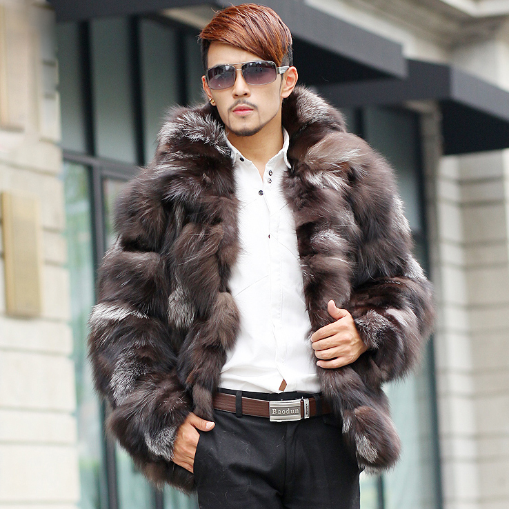 Online Shop Real fur coats men natural fox fur coat male new ...