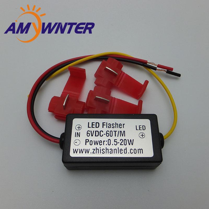 AMYWNTER 6V Flasher Controller Car LED Flash Strobe For Turn Signal Lights Warning Light