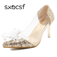 Wedding Crystal Shoes Dress