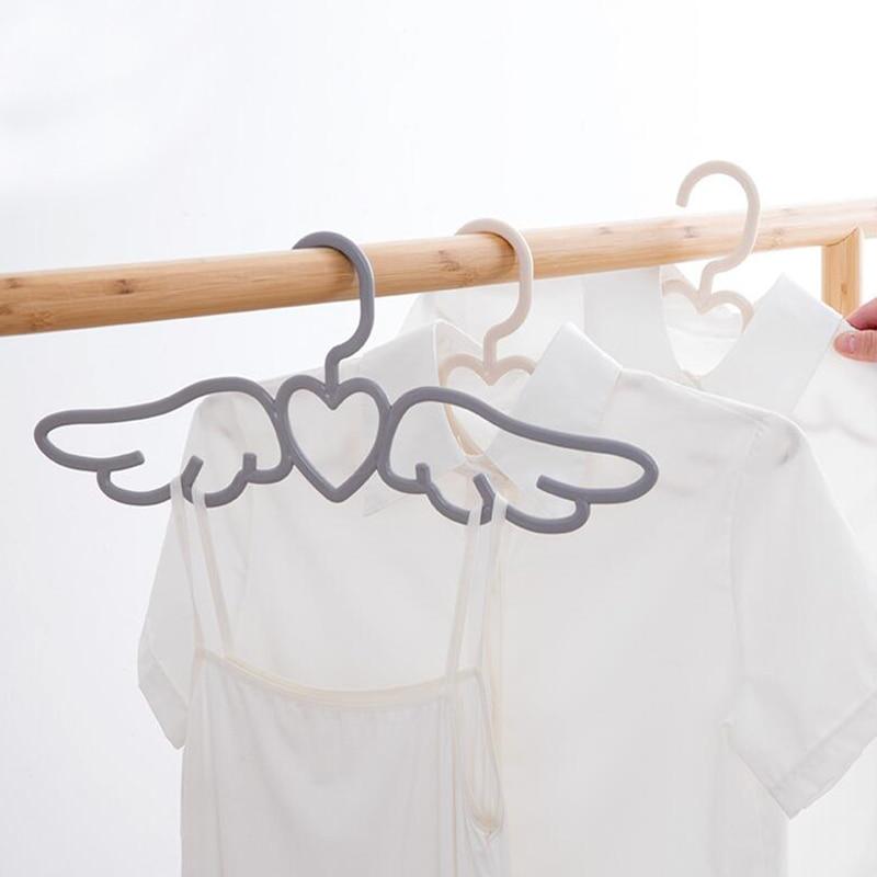 20 pcs New Design Fly Angel Plastic Clothes Shirt Hanger, Cute Pretty White Grey Loving Heart Scarf Underwear Dress Hanger Rack-in Hangers & Racks from Home & Garden    1