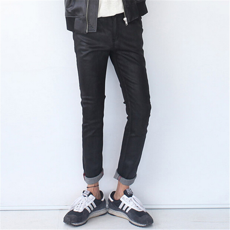 ФОТО Men'S Jeans Slim Fit Biker Jeans Casual Slim Fit Denim Skinny Overalls Trousers Man Plus Size M,L,XL,XXL