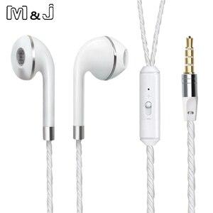 Image 3 - M & j com fio fone de ouvido para iphone 6s 6 5 xiaomi mãos livres fone de ouvido baixo fones estéreo para iphone samsung