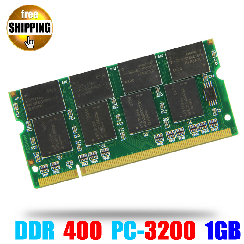 Laptop Memory Ram SO-DIMM PC3200 DDR 400 / 333 MHz 200PIN <font><b>1GB</b></font> / DDR1 <font><b>DDR400</b></font> PC 3200 400MHz 200 PIN For Notebook Sodimm Memoria image