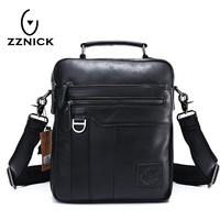 ZZNICK 2018 Brand Men S Genuine Leather Business Bag 2016 Men Shoulder Bags High Quality Male