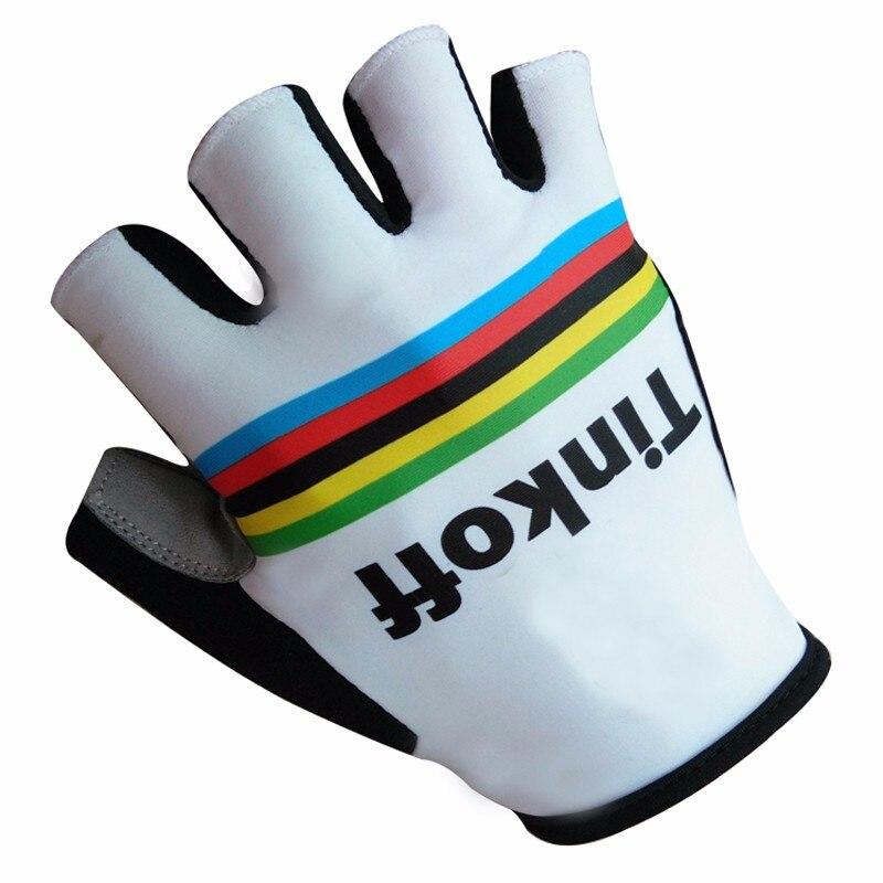 2017 Wihite / Green Team Sport <font><b>gloves</b></font> Tink off Saxo Bank Cycling <font><b>Gloves</b></font> MTB Road Mountain Bike Bicycle <font><b>Gloves</b></font> Hand Wear