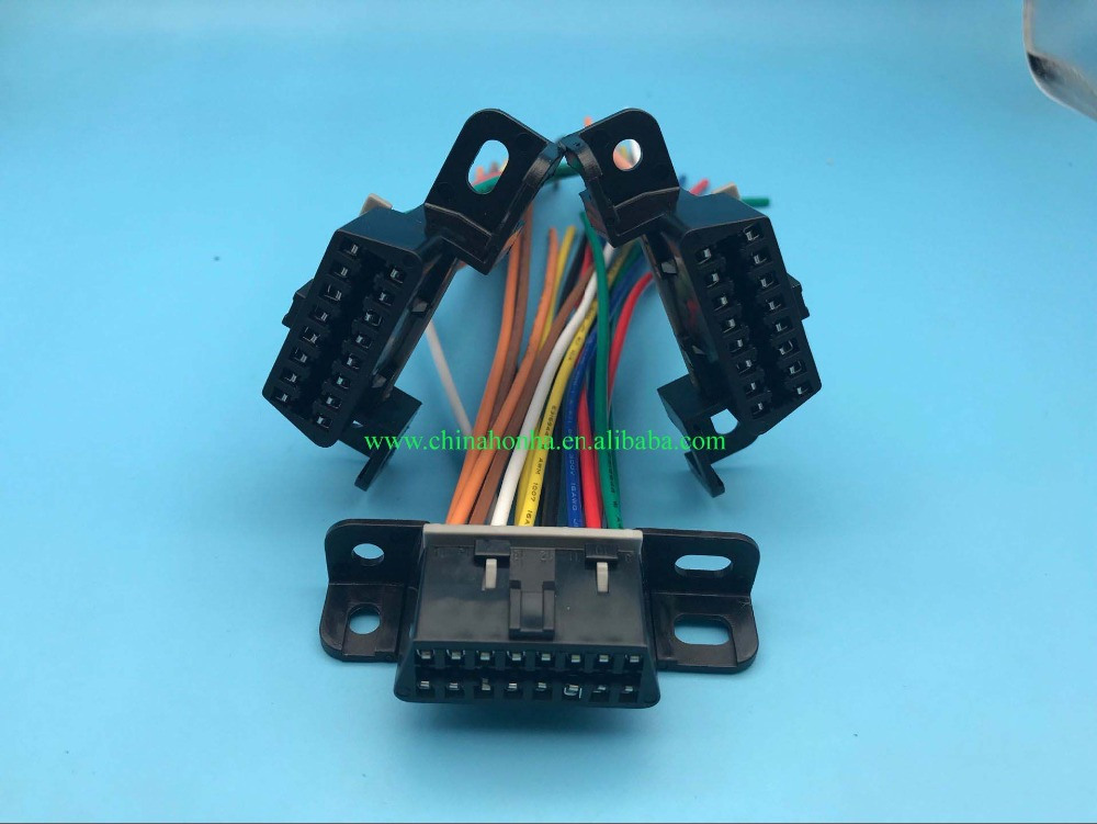 5pcs Obdii Obd2 Wiring Harness Connector Pigtail Corvette
