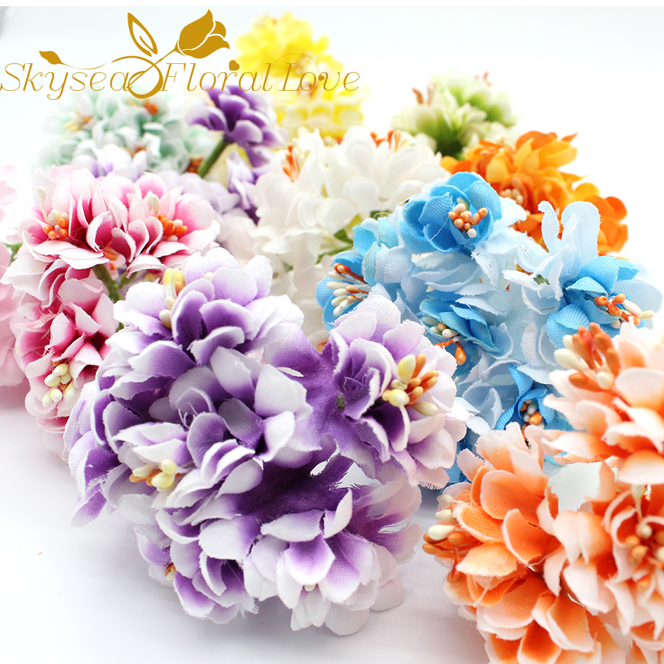 Aliexpress buy artificial cherry fake flowers diy flower aliexpress buy artificial cherry fake flowers diy flower wreath bracelet craft material decoration flower corsage silk fabric flower from reliable izmirmasajfo
