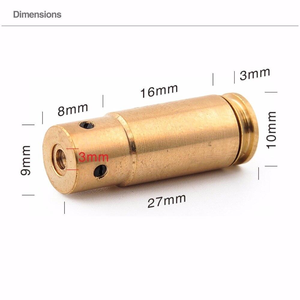 red dot 9mm laser vista caca a laser bore sight cartucho de bronze boresight rifle escopo
