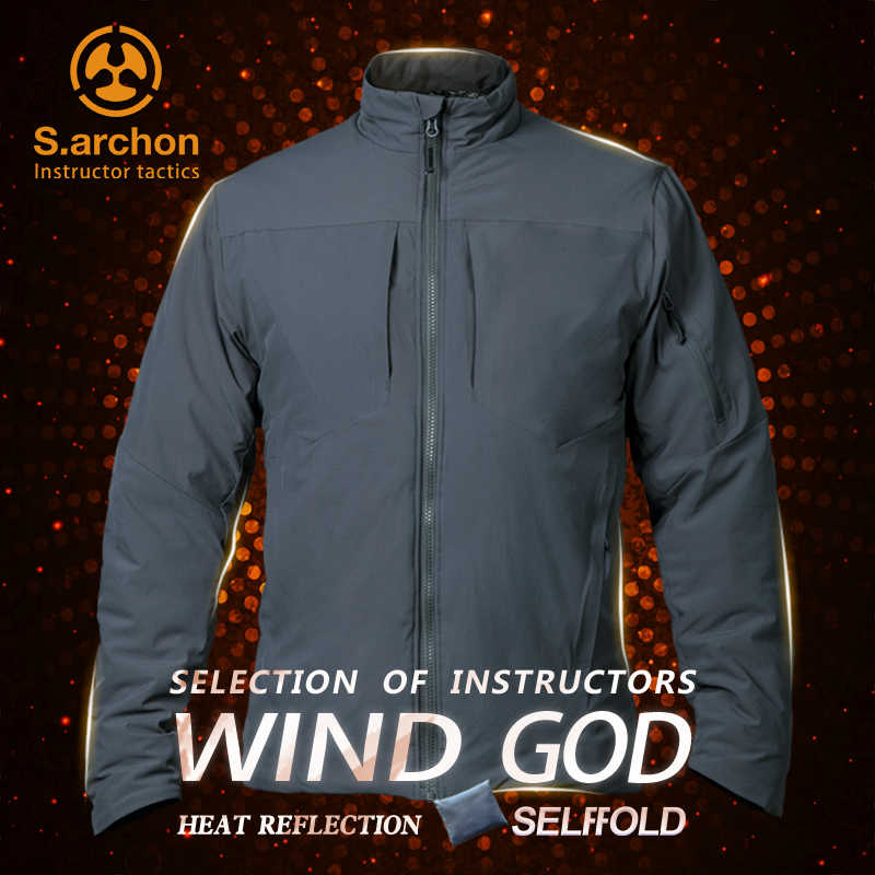 s.archon Instructor Tactics Fengshen new cotton clothing men's stretch thickened warm outdoor windproof and waterproof jacket