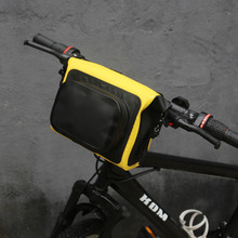 цена на Tourbon Bicycle Handlebar Bag Front Pouch Bike MTB Cycling Waterproof Phone Storage Multi-purpose Carrier Reflective