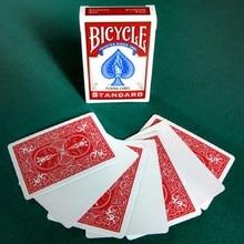 1 Pont Vélo Visage Blanc Rouge/Bleu en Arrière en Jouant Cartes Gaffe Cartes magiques Accessoires De Magie Close Up Astuces Étape Magiques Spécial pour magicien