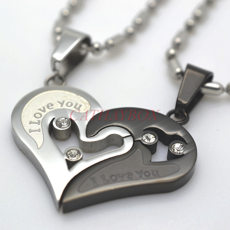 Compare Prices on His Her Couples Heart Charm Pendant Necklace ...