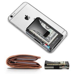 Image 5 - Newbring mini clipe de dinheiro, porta cartões de crédito da moda preto e branco, com rfid, carteira anti roubo para homens