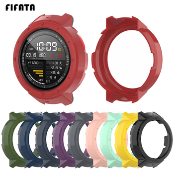 FIFATA PC Cover Case For Huami Amazfit Verge Watch Protectiver Case + Soft Silicone Strap For Huami Amazfit 3 Verge Smart Watch english version original xiaomi huami amoled screen heart rate monitor built in nfc smart watch amazfit verge 3