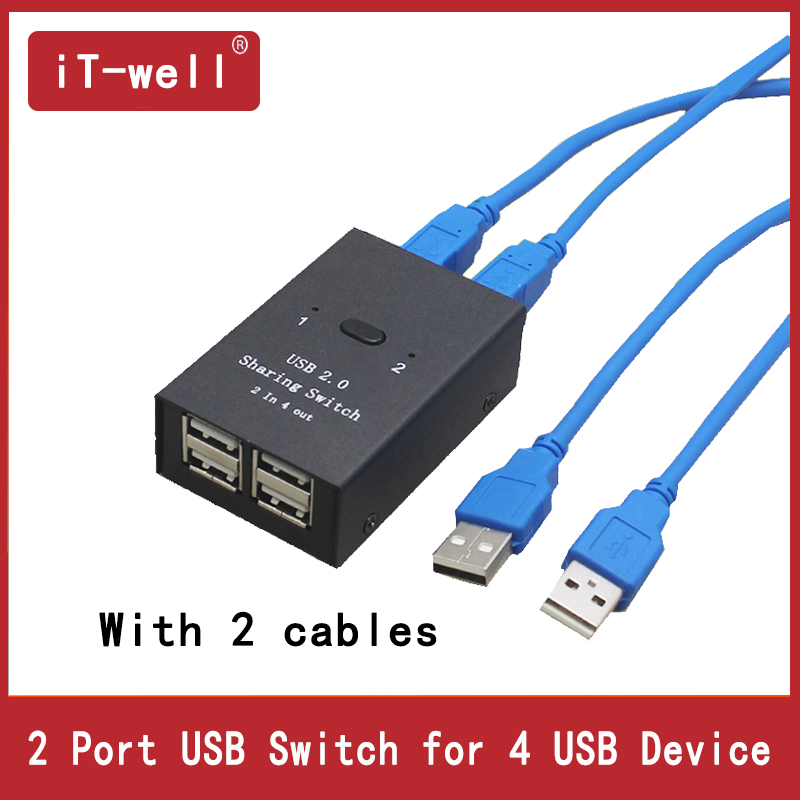 USB  Hub Usb Manual Sharing Switch 2 In 4 Out Keyboard And Mouse Sharing Switch Printer Sharing For Compute
