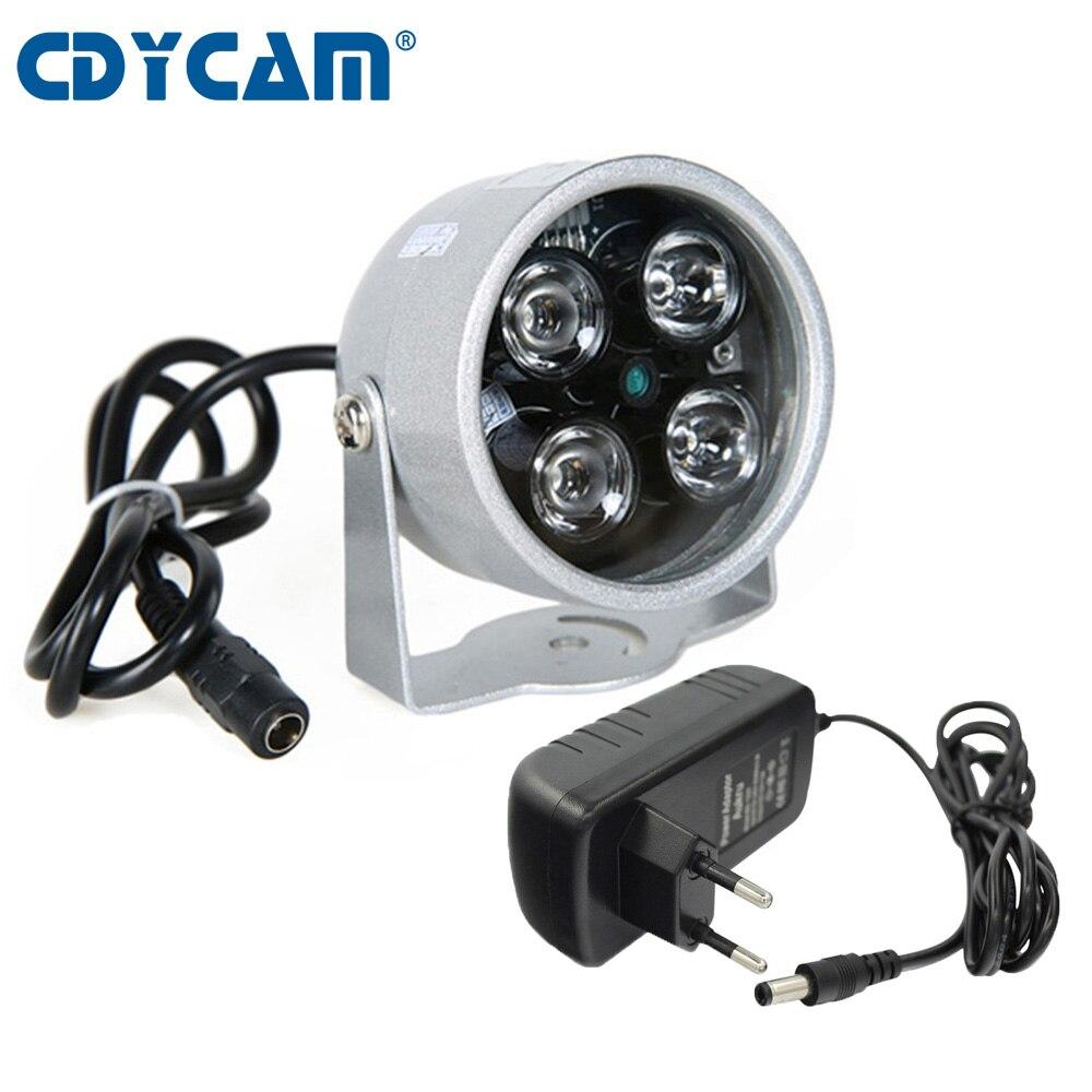 Светодиодный ИК-светильник CDYCAM для систем видеонаблюдения, с функцией ночного видения, 12 В, 2 А