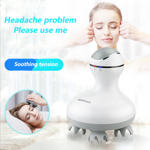 Charging head massager kneading octopus brain scalp 3D smart waterproof multi-function household body
