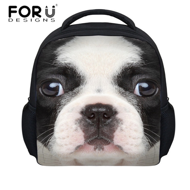FORUDESIGNS 2015 new design 3D owl men's school bags,fashion kids dogs print schoolbag for girls,animal school bags for gifts