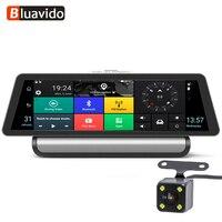 Bluavido 10 Inch 4G Android Car DVR 1080P Video Camera GPS Navigation ADAS Full HD Camcorder Bluetooth WiFi Dual lens Dashcam