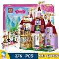 376 pcs bela 10565 das meninas princesa amigos belle enchanted castle padaria diy 3d blocos crianças brinquedos de presente compatível com lego