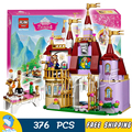 376 unids bela 10565 niñas princesa castillo encantado de amigos belle panadería diy 3d bloques de los niños juguetes de regalo compatible con lego